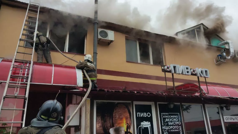 В Башкирии произошёл пожар в ТЦ