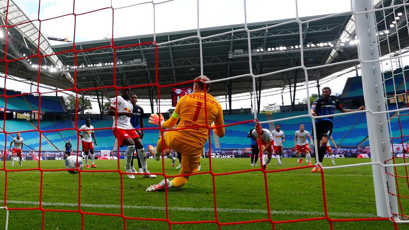 «Лейпциг» в меньшинстве упустил победу над «Падеборном» в матче Бундеслиги