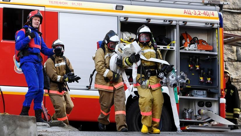 В МЧС рассказали об обстановке на месте тушения пожара на ГРС в Казани