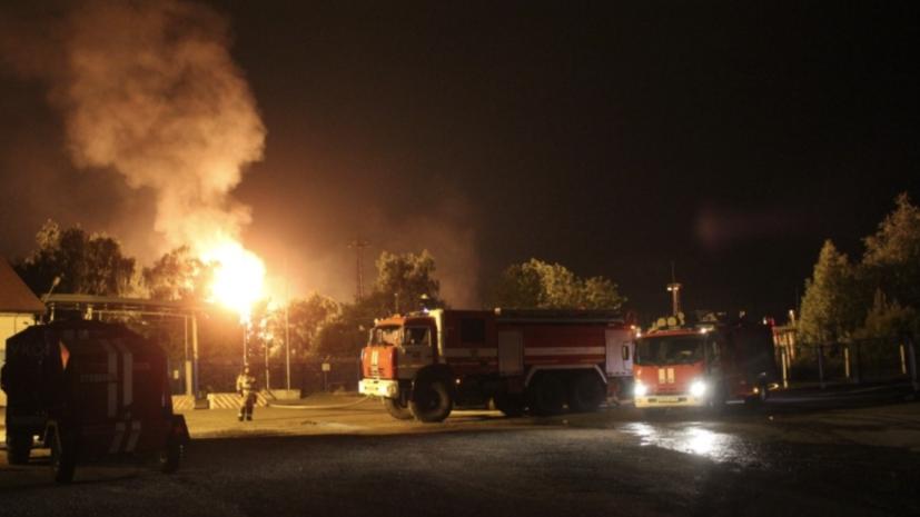 В Казани ввели режим ЧС в связи с пожаром на ГРС