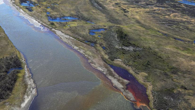 Погода на месте разлива нефтепродуктов в Норильске всё ещё ветреная