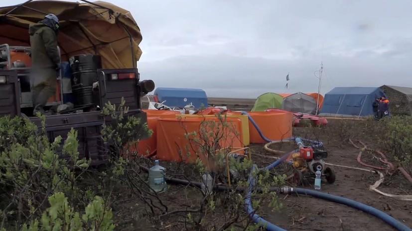 В Норильск доставили дополнительные ёмкости для сбора нефтепродуктов