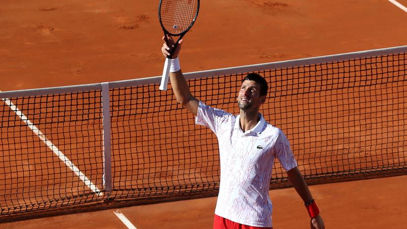 Джокович победил Зверева на выставочном теннисном турнире в Белграде