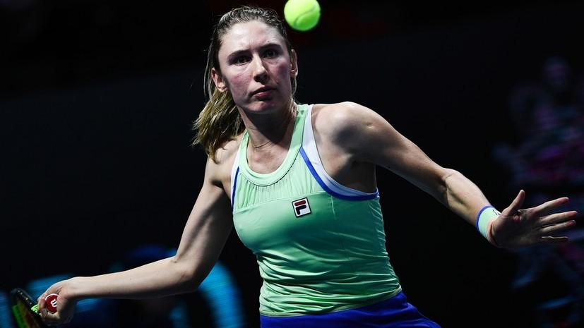 Александрова проиграла Мартинцовой на выставочном теннисном турнире в Чехии