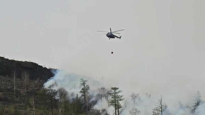 На Камчатке ввели режим ЧС из-за крупного пожара