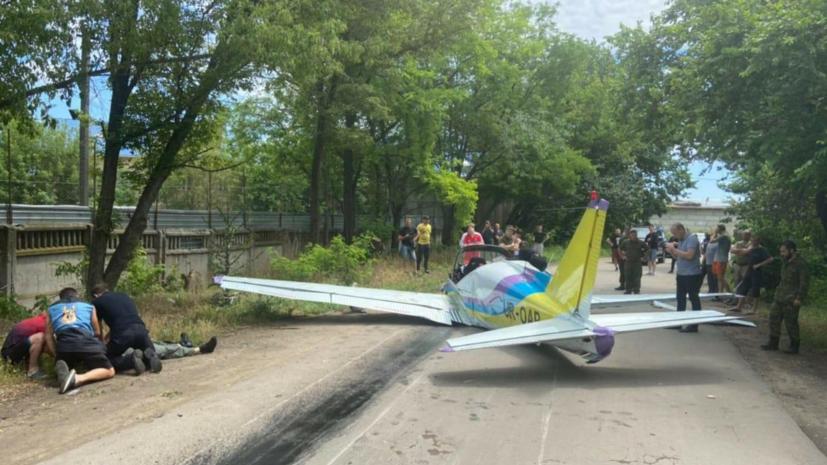 В Одессе потерпел крушение легкомоторный самолёт