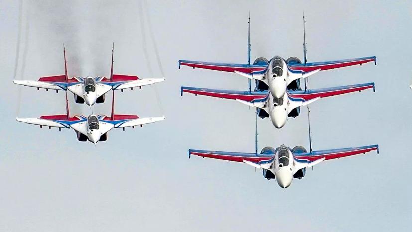 В Волгограде прошла тренировка воздушной части парада Победы