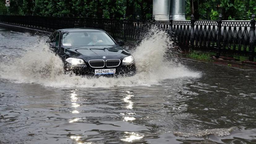 В Москве сообщили об устранении крупных подтоплений на дорогах