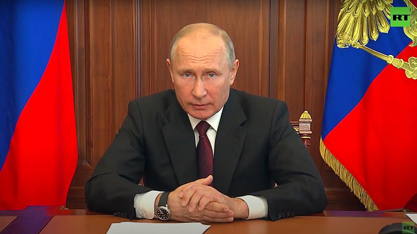 «Мы смогли ответить на вызов колоссальной сложности»: Путин выступил с обращением к россиянам