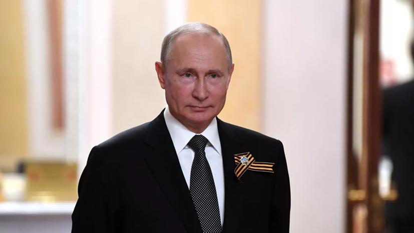 Путин поднял тост за ветеранов и будущие победы