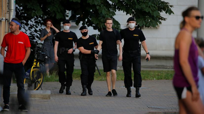 В МВД Белоруссии сообщили о «раскачивании ситуации» в Минске