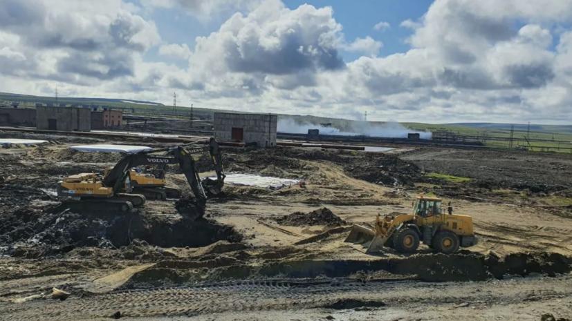 За сутки на месте ЧП в Норильске собрано 16 кубометров водонефтяной смеси