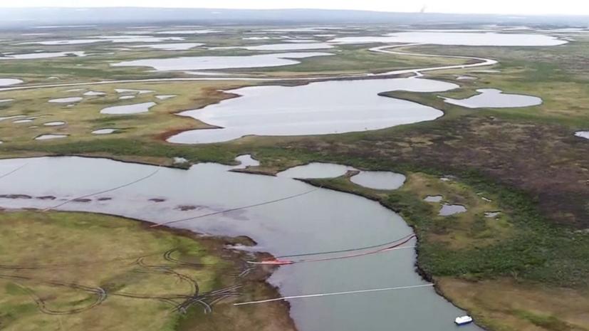 На месте ЧП в Норильске собрано семь кубометров водонефтяной смеси