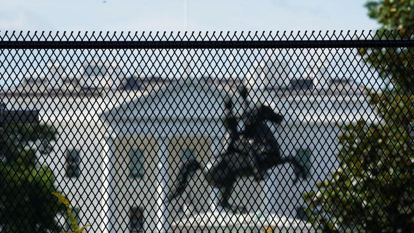 В США предъявили обвинения пытавшимся свалить статую Эндрю Джексона
