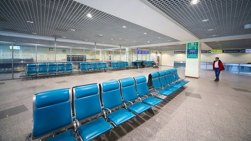 Пассажиропоток авиакомпаний России в мае упал на 91,3%