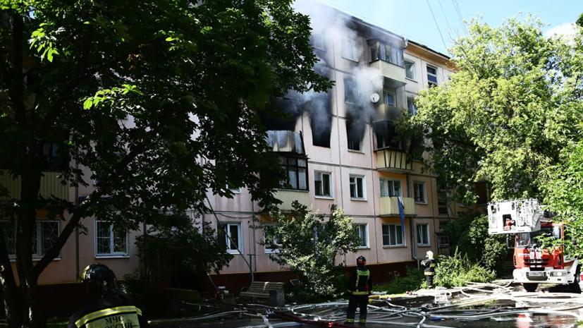 Три человека госпитализированы после пожара на северо-востоке Москвы