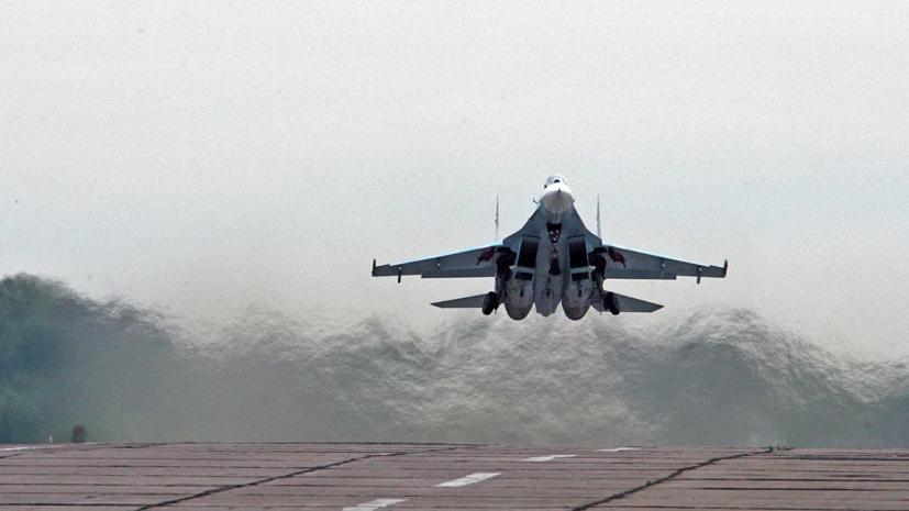 Су-27 поднимались для перехвата самолётов США над Чёрным морем