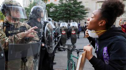 Протесты против действий полиции, приведших к гибели афроамериканца Джорджа Флойда