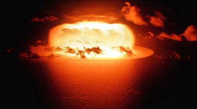 Испытание ядерной бомбы на атолле Эниветок, 1956 год