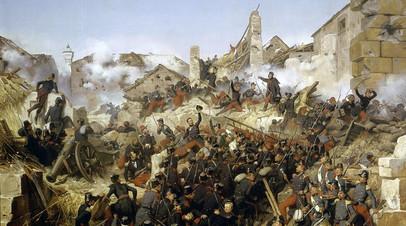 Взятие Константины французскими войсками 13 октября 1837, картина работы Ораса Верне