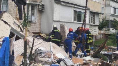 Число погибших при взрыве в доме в Киеве возросло до трёх