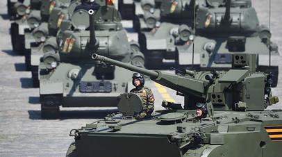 Военная техника во время генеральной репетиции парада в честь 75-летия победы в Великой Отечественной войне в Москве