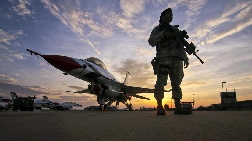Истребитель F-16 ВВС США разбился в Южной Каролине