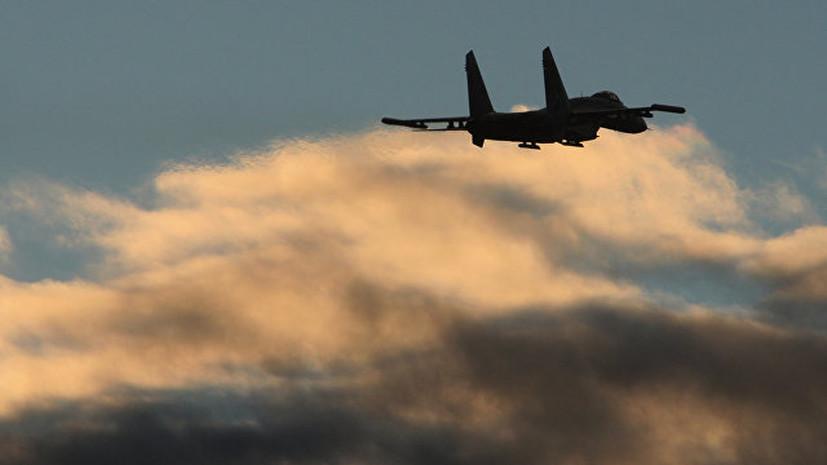 Российские истребители перехватили американский самолет над Черным морем