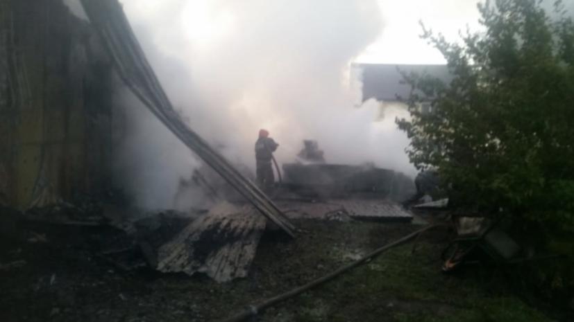 Открытое горение на ферме в Свердловской области ликвидировано