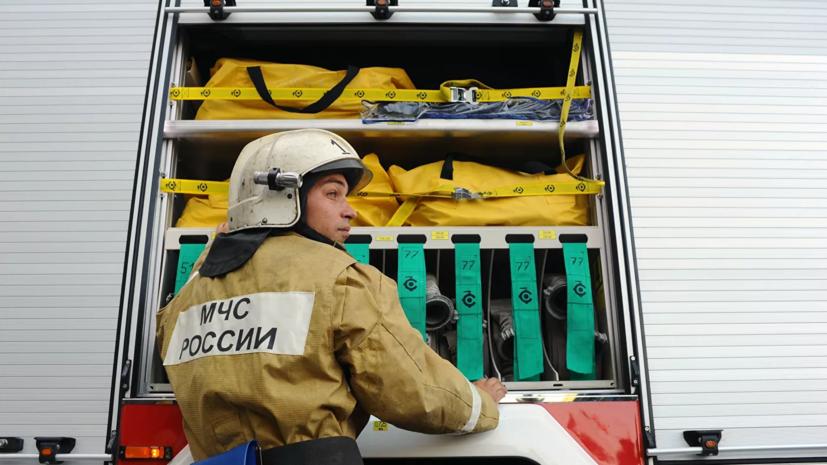 В Красноярске потушили пожар в кафе