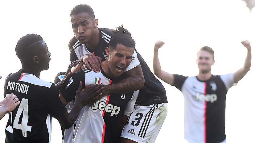 Гол Роналду помог «Ювентусу» обыграть «Торино» в Серии А