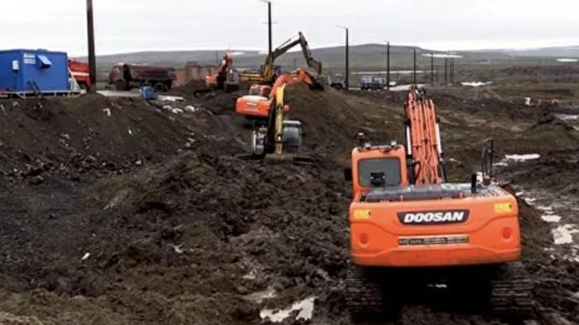 В Норильске вывезли ещё 2,9 тысячи тонн загрязнённого грунта