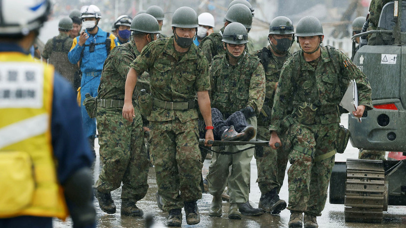 Не менее 16 человек погибли в результате наводнений в Японии