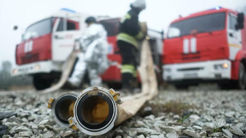 В Дагестане произошёл пожар на полигоне бытовых отходов