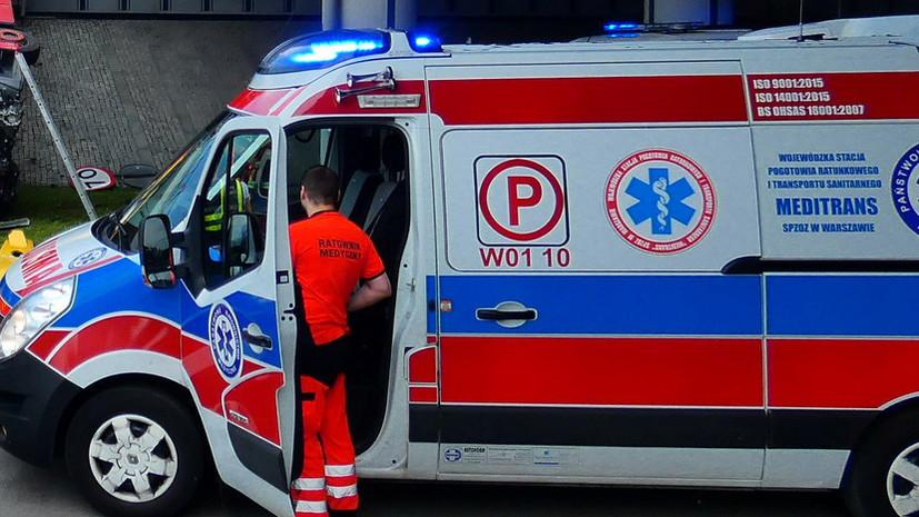 Спортивный самолёт упал на частной территории в Польше