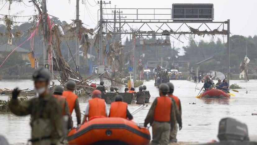 Число погибших из-за наводнения в Японии возросло до 25