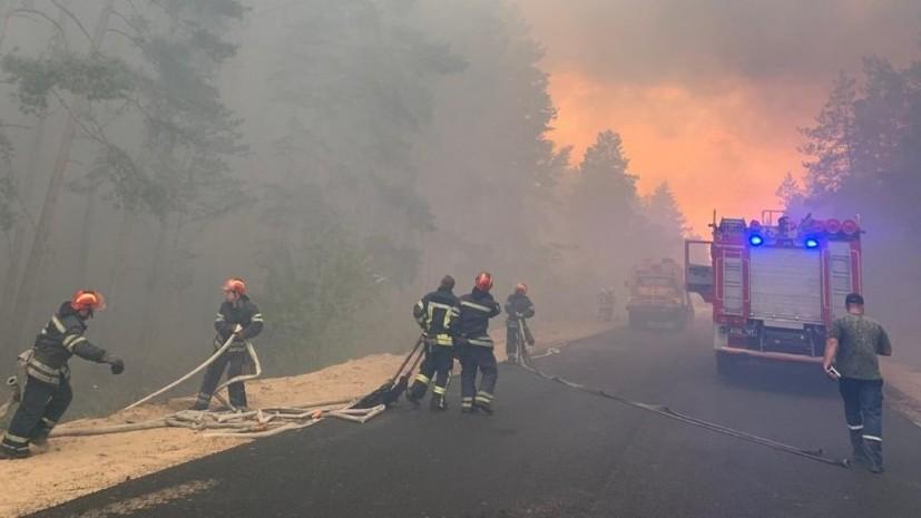 К тушению пожара в Луганской области привлечены около 400 украинских военных