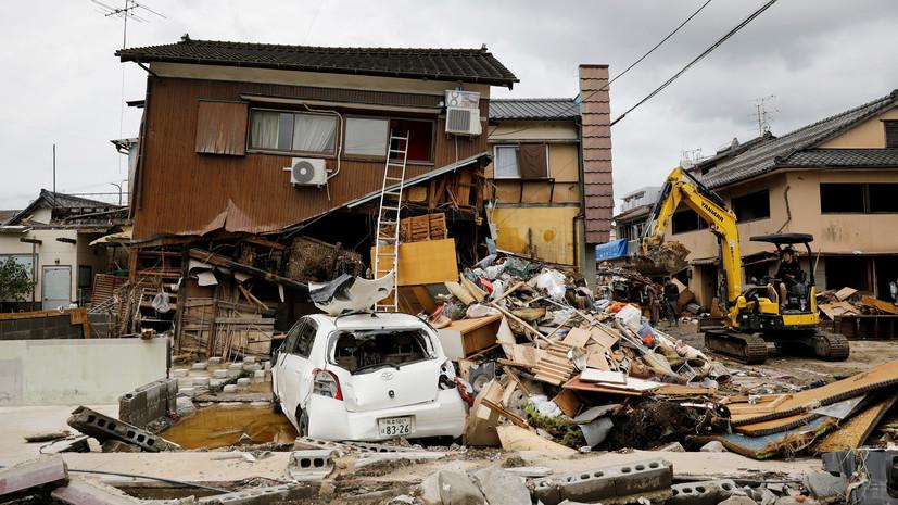 Почти 60 человек погибли в Японии в результате наводнений и оползней