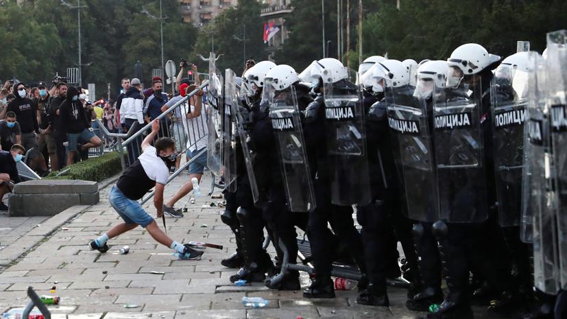 В Сербии задержали 153 участника беспорядков