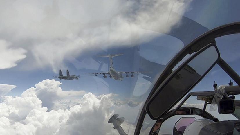 Авиация ЧФ провела учения в небе над Крымом