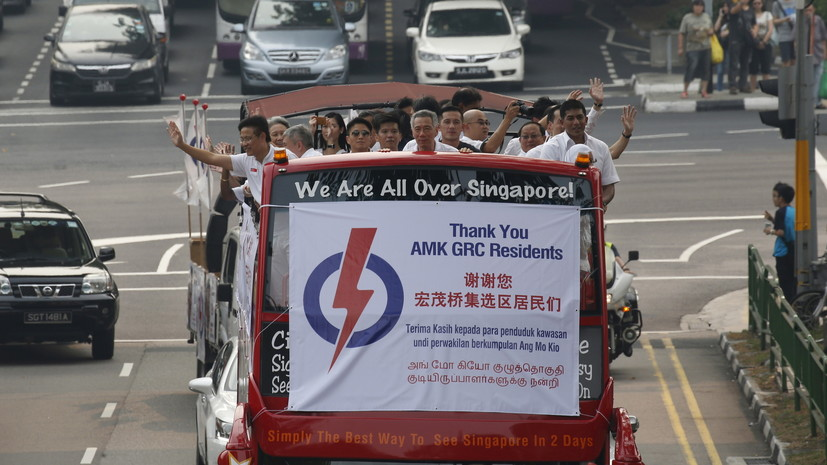 Правящая партия Сингапура получила на выборах 83 мандата из 93