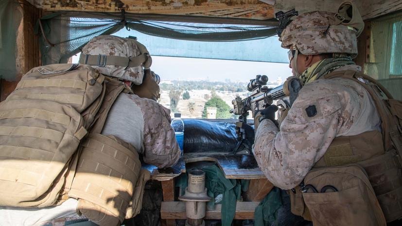 СМИ: Автоколонна базы снабжения США атакована на юге Ирака