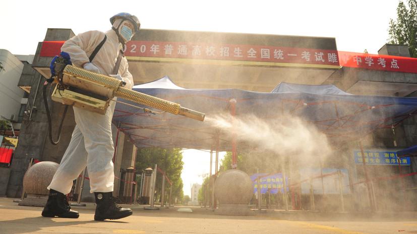 В Китае за сутки выявили 12 новых случаев коронавируса