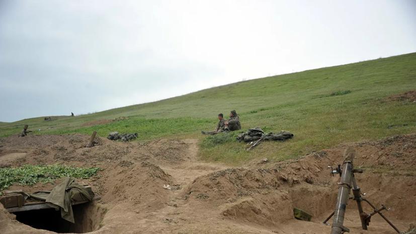 В Азербайджане сообщили о столкновении на границе с Арменией