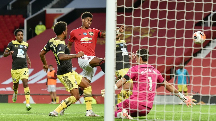 «Манчестер Юнайтед» и «Саутгемптон» сыграли вничью в матче 35-го тура АПЛ