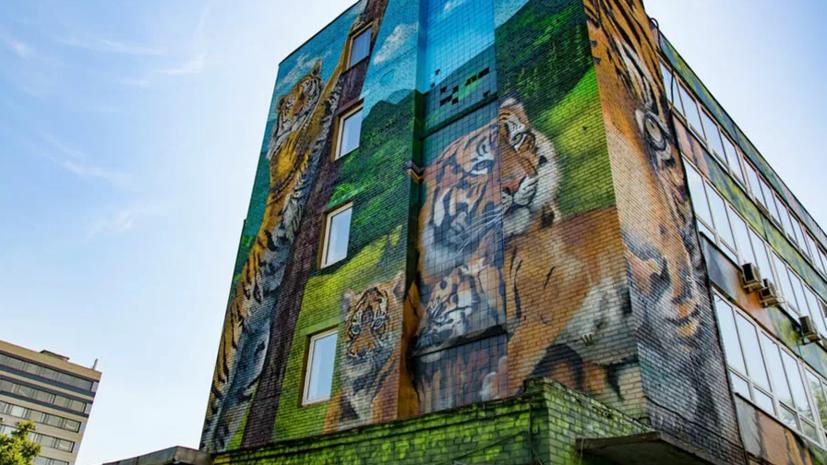 Фасады зданий в Москве украсили более 600 граффити с начала года