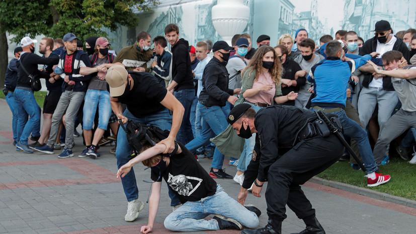 В Минске прошла несанкционированная акция протеста
