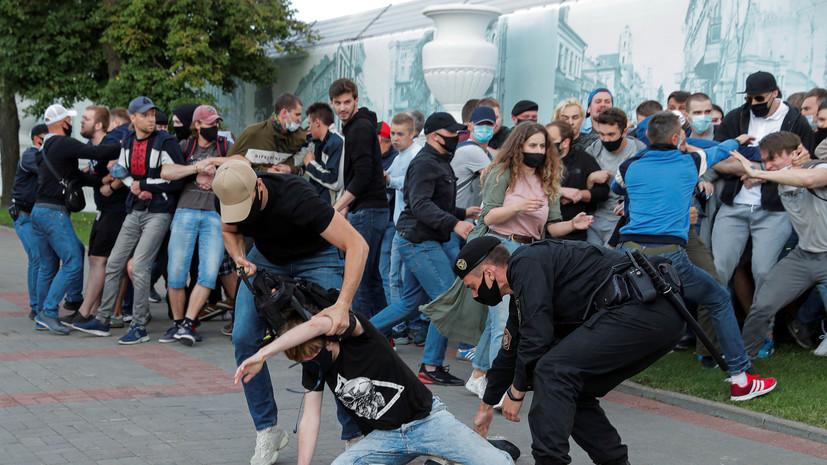 В Белоруссии на акциях протеста задержали более 250 человек