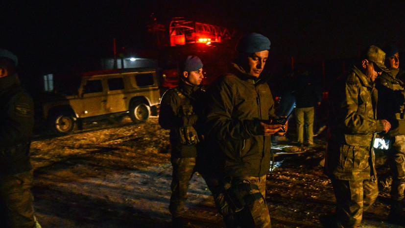 В Турции семь человек погибли при крушении самолёта-разведчика