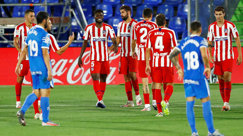 «Атлетико» победил «Хетафе» в 37-м туре чемпионата Испании по футболу